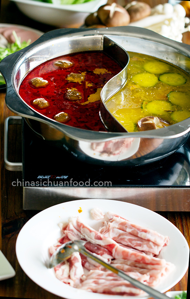 Vid. family style asian dish hot pot August