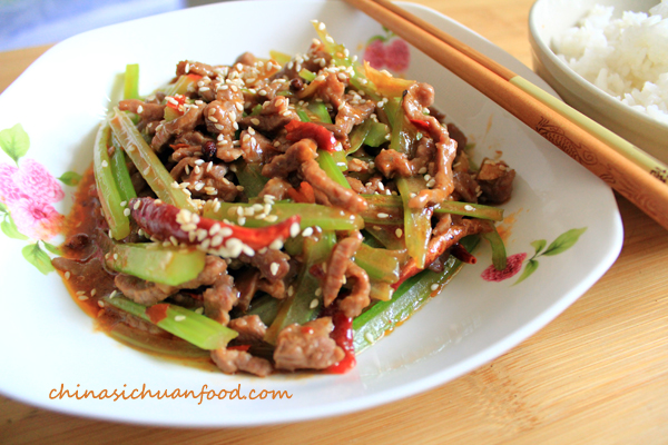 szechuan beef stir fry  china sichuan food