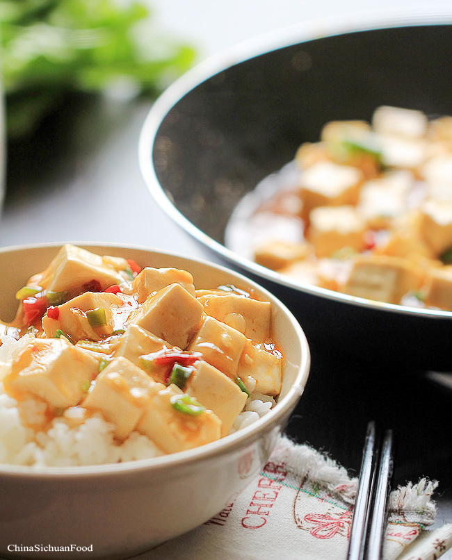 warm tofu with spicy garlic sauce flickr photo sharing warm tofu with ...