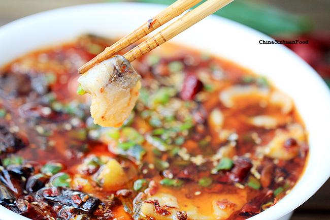 Boiled fish sichuan shui zhu yu recipe china sichuan food for Boiled fish recipe