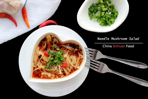 Needle Mushroom Salad|ChinaSichuanFood