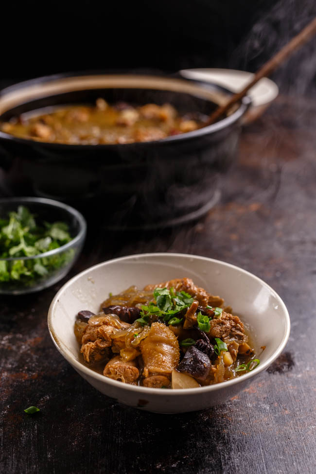 best ever braised chicken with mushrooms-7