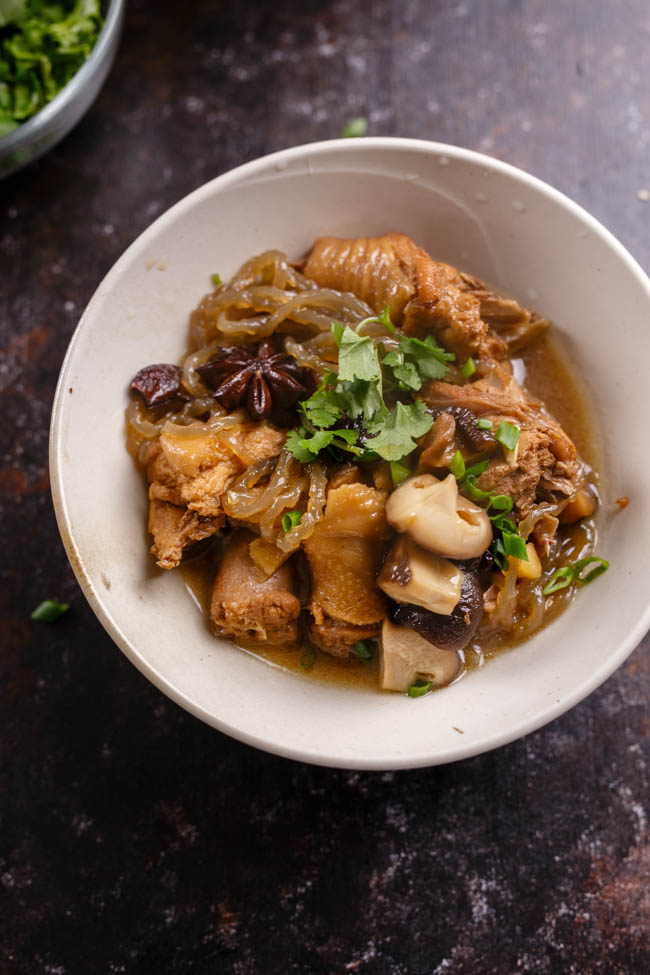 Chinese braised chicken with dried mushrooms china sichuan food best ever braised chicken with mushrooms 7 forumfinder Choice Image
