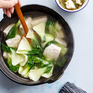 Tofu Soup With Bok Choy