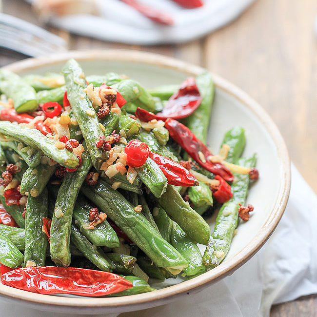sichuan dry fried green dry fried long beans easy sichuan dry fried ...