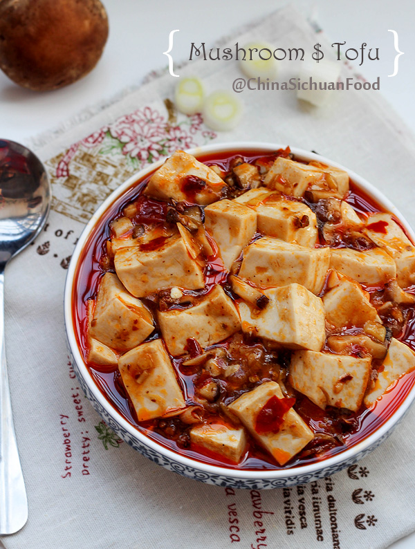 ... vegetarian version developed from the traditional mapo tofu recipe