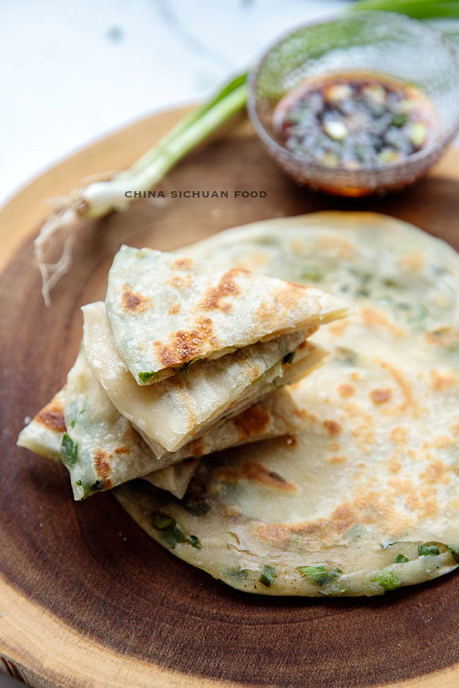 Chinese Scallion Pancakes Congyoubing China Sichuan Food