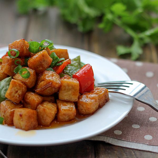 Vegan Kung Pao tofu
