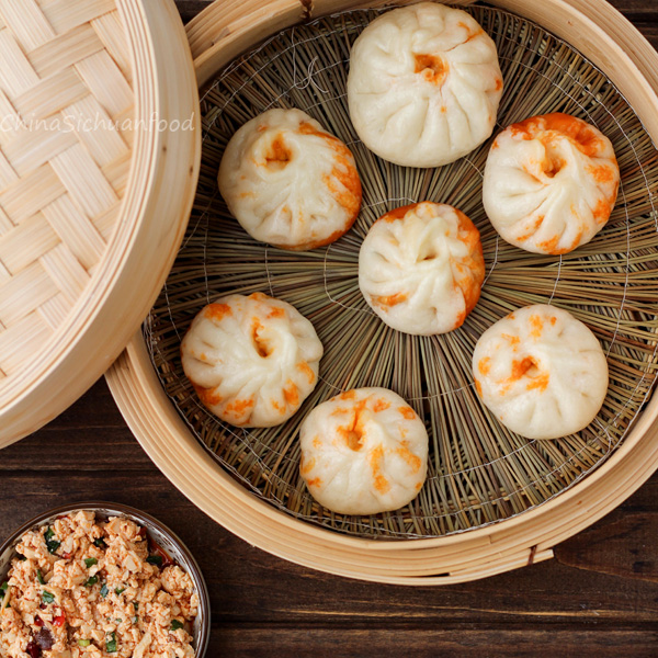 ... Chinese steamed pork buns. However a little bit more water is added
