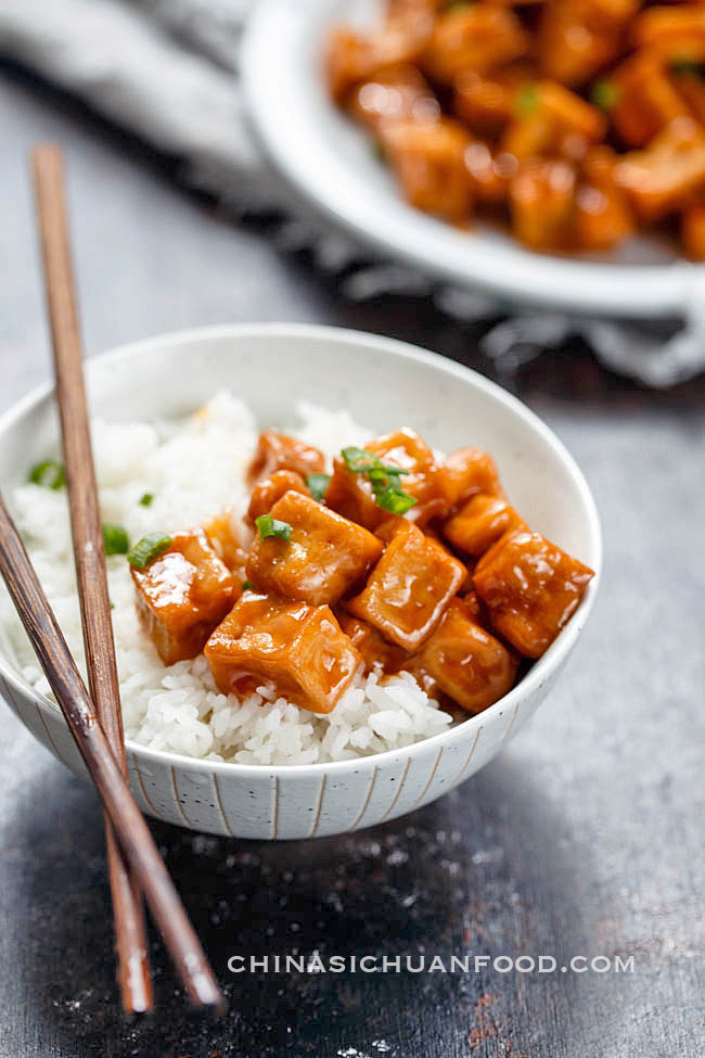 sweet and sour tofu| chinasichuanfood.com