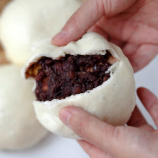 Homemade red bean buns|Dou Shao Bao