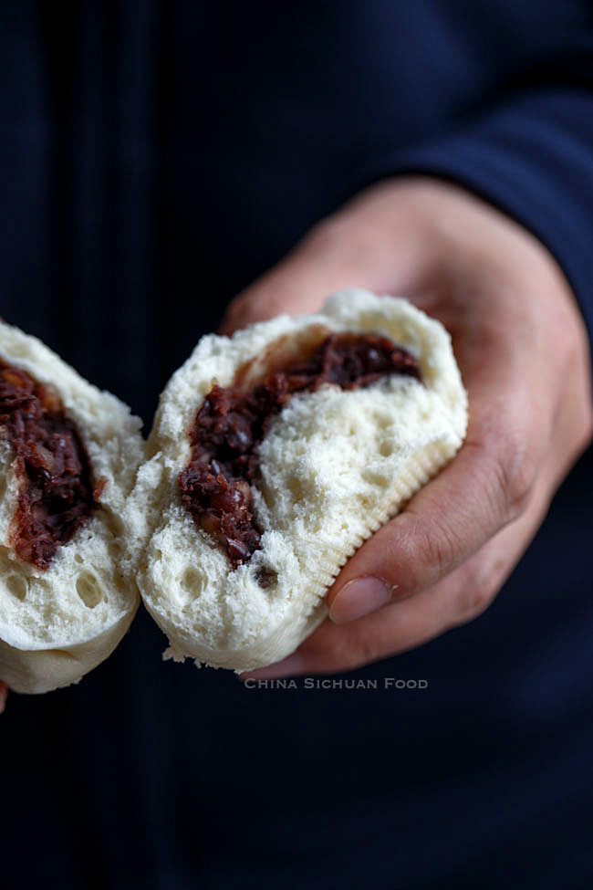 Homemade red bean buns| chinasichuanfood.com