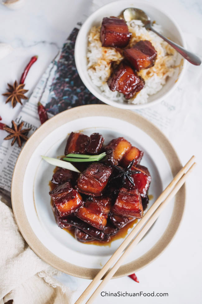 chairman Mao's red braised pork belly|chinasichuanfood.com