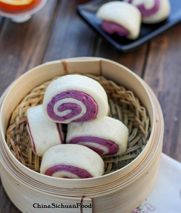 Purple Sweet potato buns|ChinaSichuanFood