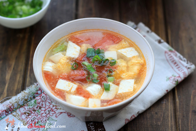 Tofu Egg Soup with Tomatoes – China Sichuan Food