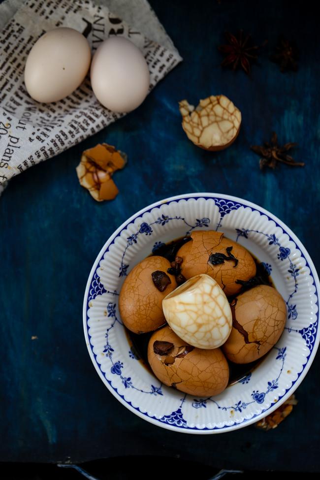 Tea Eggs Marbled Eggs China Sichuan Food