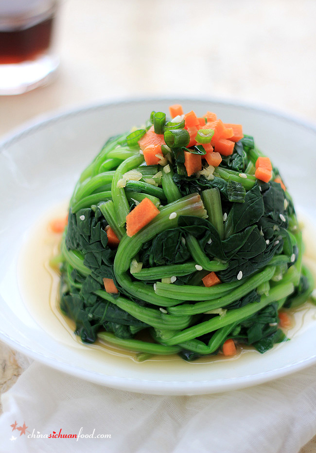 Sesame Ginger Dressing Spinach|ChinaSichuanFood