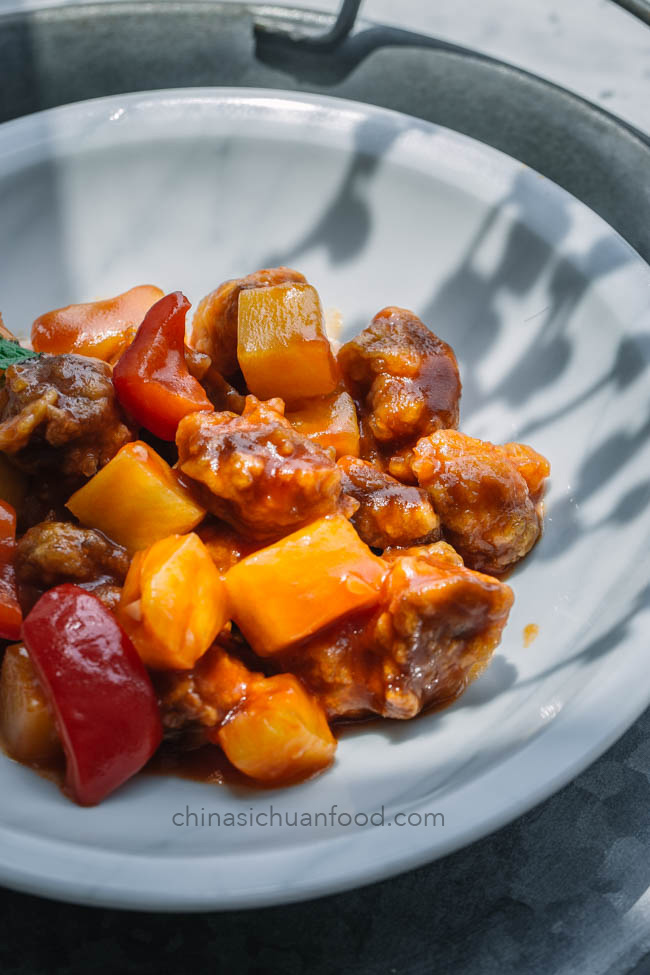 sweet and sour pork|chinasichuanfood.com