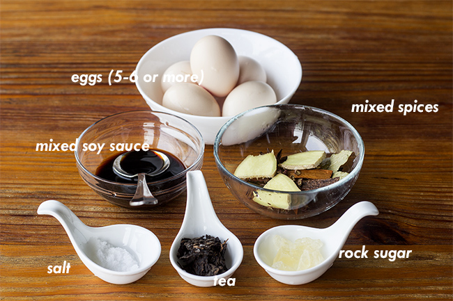 there are different flavors of chinese tea eggs depending on