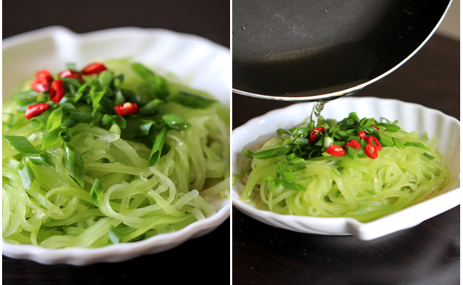 Celtuce Salad with Spring Onion