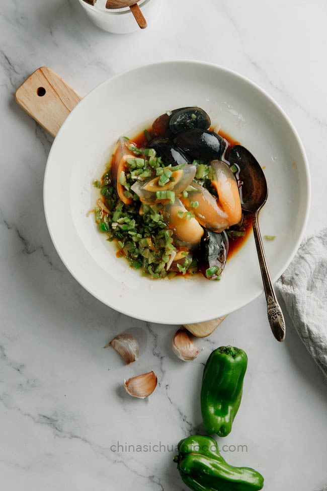 Century eggs salad |chinasichuanfood.com