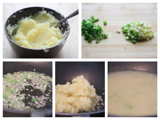 Chinese style Mashed potatoes
