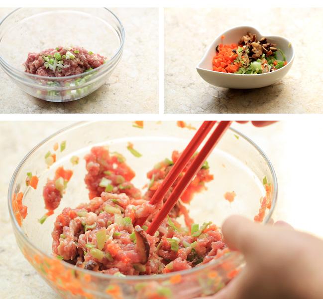 make dumpling filling