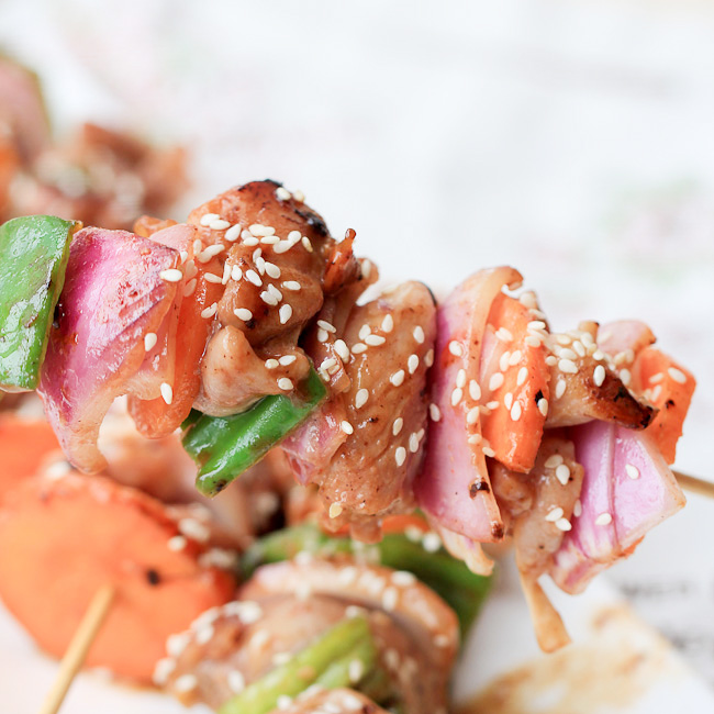 Char Siu Chicken Skewers