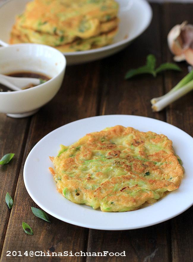 Zucchini Pancakes Chinese Style |ChinaSichuanFood