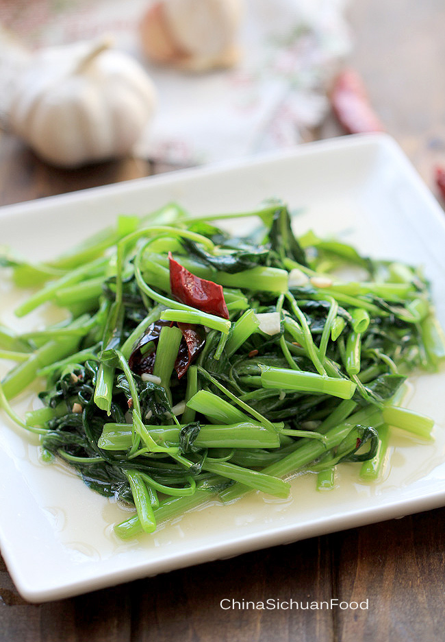 Chinese Water Spinach Stir Fry