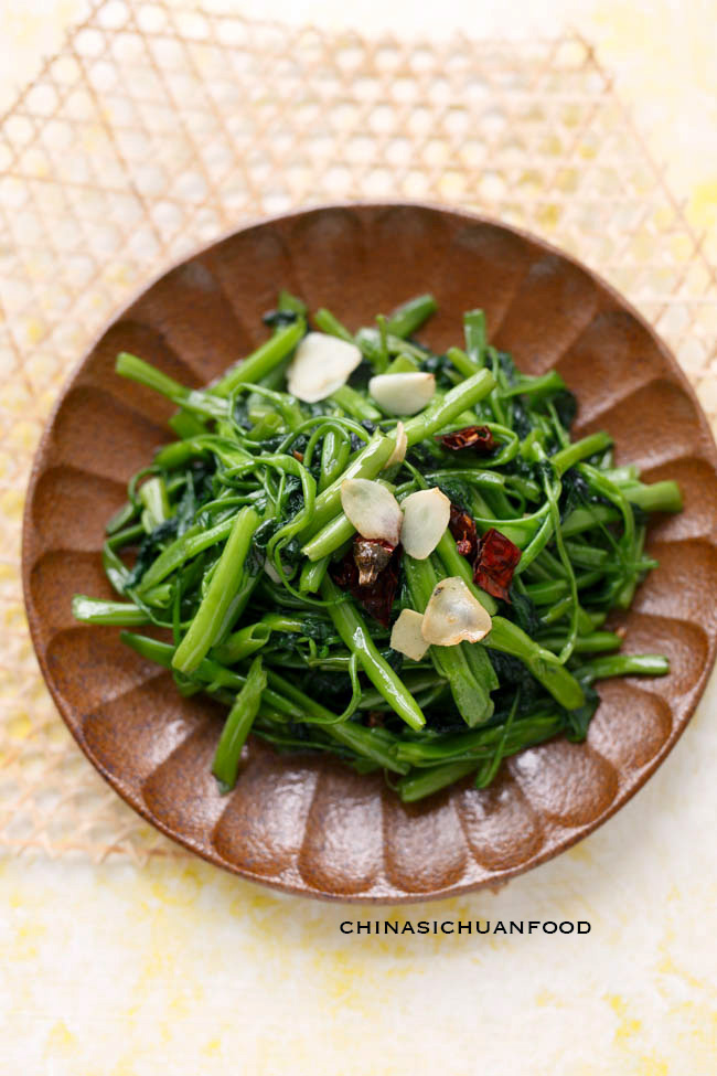 Water-Spinach-stir-fry|chinasichuanfood.com