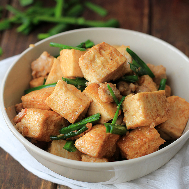 Tofu Stir fry with Minced Pork