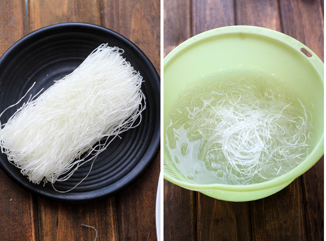 Braised Mung Bean Noodles with Shrimps