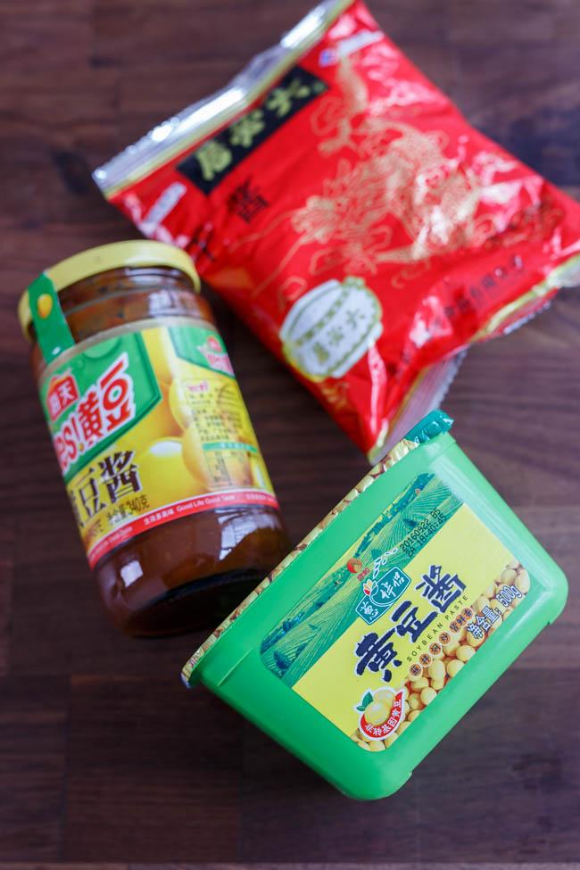 Zha jiang mian| soy bean paste sauce