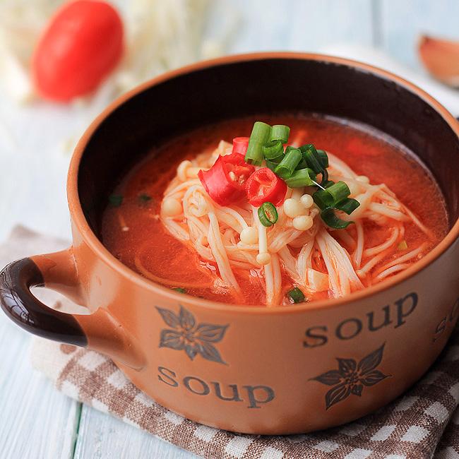 Easy Enoki Mushroom Soup China Sichuan Food