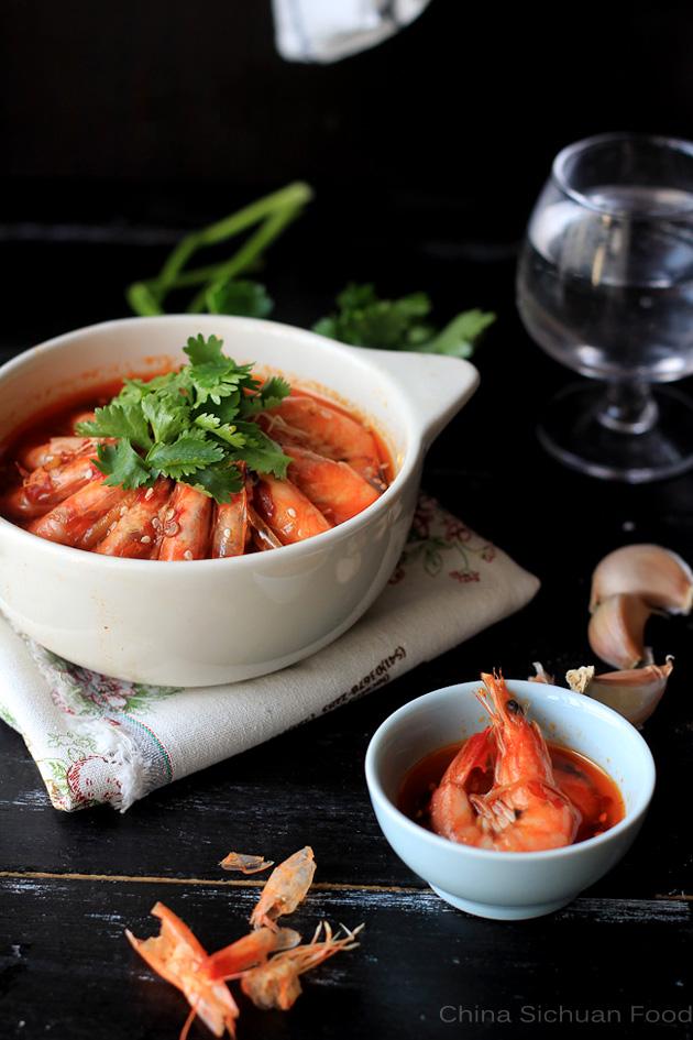 szechuan shrimp-pen pen shrimp
