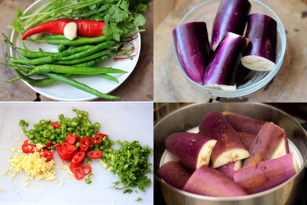 Chinese eggplant recipe--Spicy Cold Salad