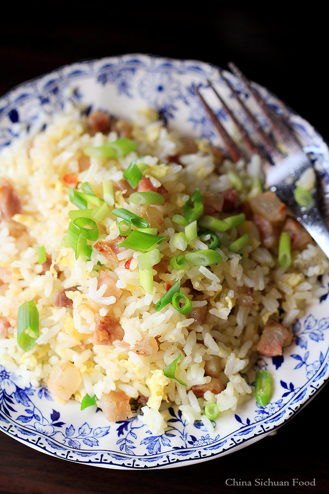 Chinese sausage fried rice-