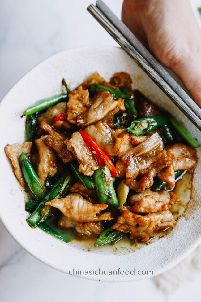 Hunan pork stir fry|chinasichuanfood.com
