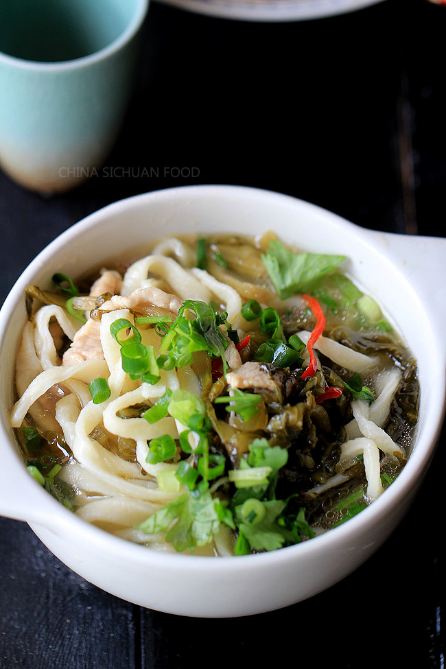 Homemade Noodles cooked