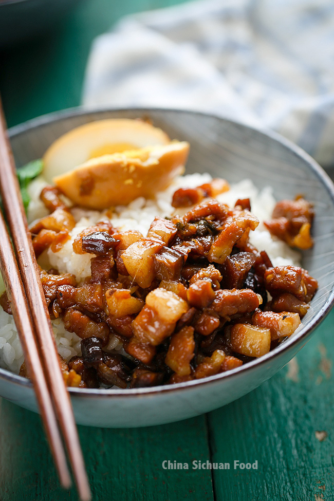 lu rou fan-Taiwanese braised pork over rice
