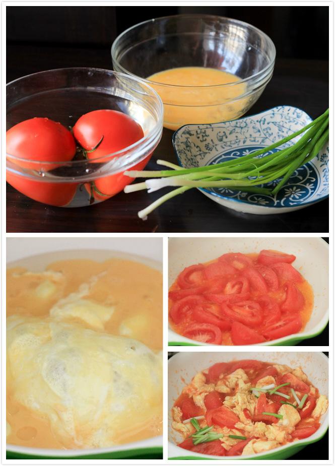 tomato and egg stir fry steps