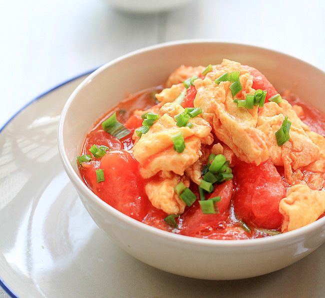 tomato and egg stir fry
