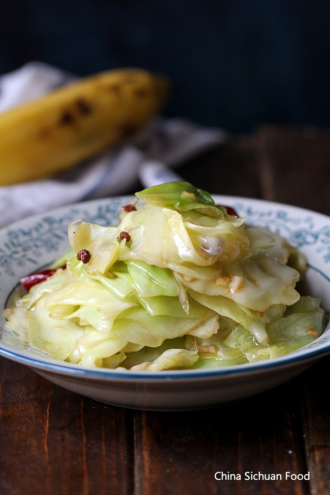 Chinese style cabbage stir fry