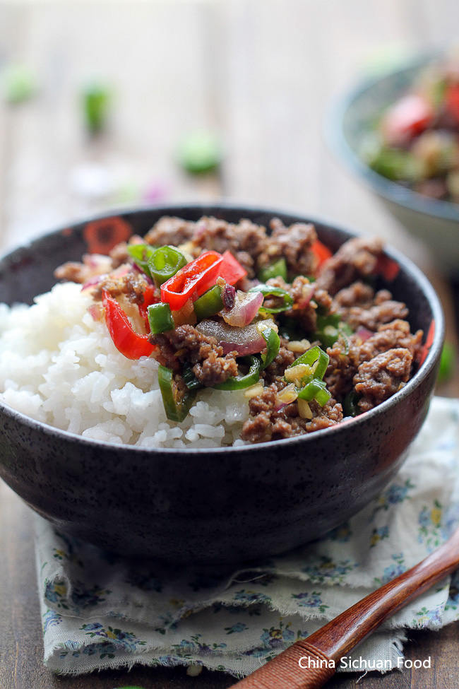 Ground Beef Rice Bowl