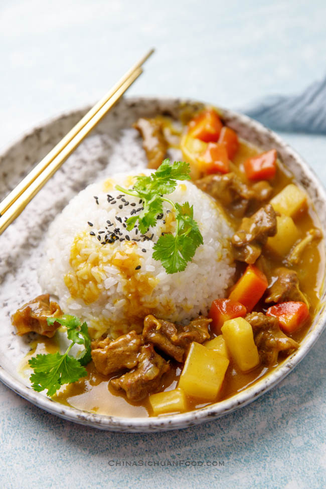 Chinese beef curry | chinasichuanfood.com