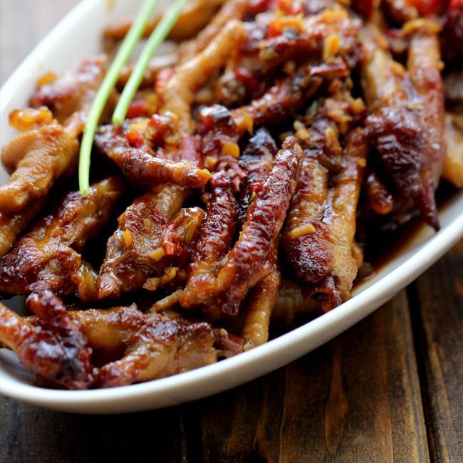 Chinese dim sum Chicken feet-Braised version