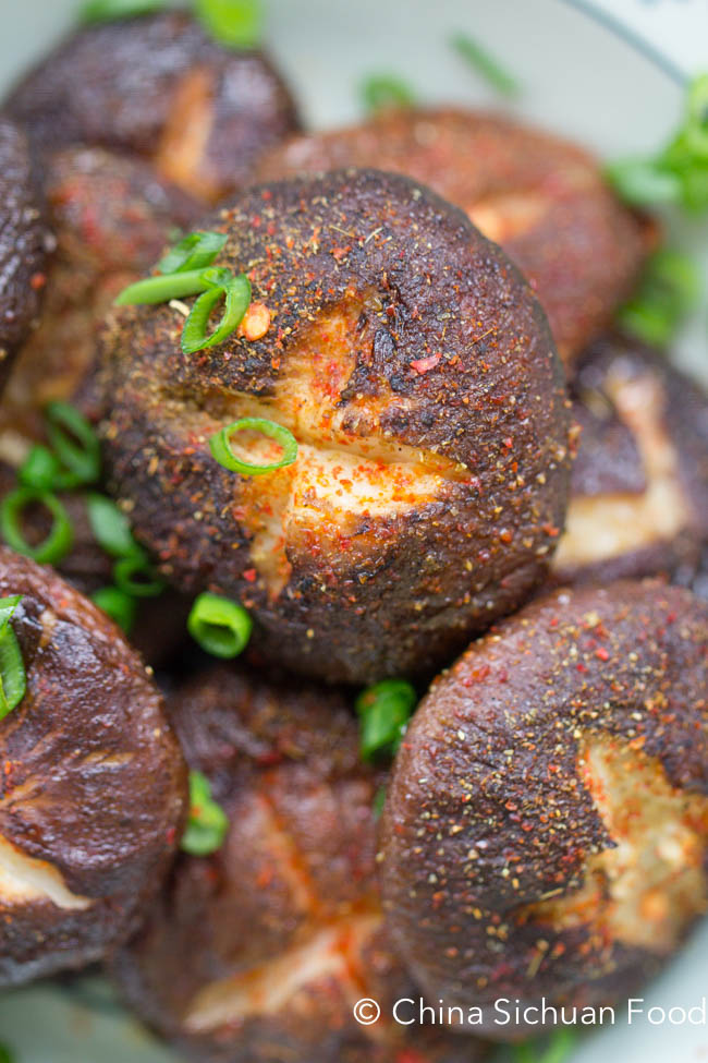 Cumin roasted mushrooms