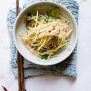 Shredded potato salad|chinasichuanfood.com