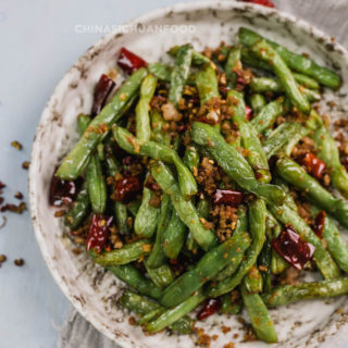 Szechuan Dry Fried Green Beans (Simplified version)